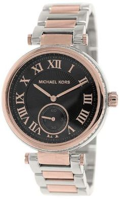 fd570a31e17f Michael Kors Skylar MK5957 Black Dial Two Tone Stainless Steel Bracelet Womens  Watch