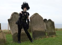 Abbie Dodsworth, 14, at Whitby Goth festival