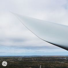 The elegant tip of a wind turbine blade. Photo taken by Andrew Griswold at the Cape Cod Instawalk.