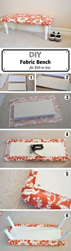 Check out the tutorial on how to make a DIY fabric bench @istandarddesign