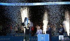"""آندي موراي يفوز ببطولة """"الأساتذة"""" للتنس وينهي…: أحرز البريطاني آندي موراي لقب دورة الأساتذة (الماسترز) للاعبين الثمانية الأوائل على مستوى…"""