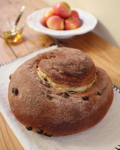 Round Cinnamon Raisin Challah for and Easy, step-by-step instructions from OrnaBakes Recipe For A Happy New Year, Rosh Hashanah, Breakfast Cereal, Challah, Artisan Bread, Dry Yeast, Sweet Bread, Raisin, Biscotti