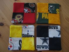NFL Fabric Coasters