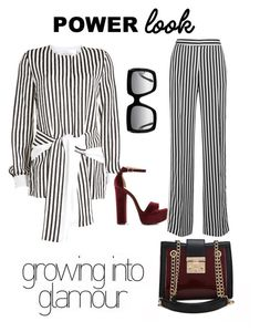 A fashion look from February 2018 featuring white striped top, striped wide leg pants and floral platform sandals. Browse and shop related looks. Victoria Beckham, Steve Madden, Gucci, Van, Elegant, My Style, Casual, Polyvore, Stuff To Buy