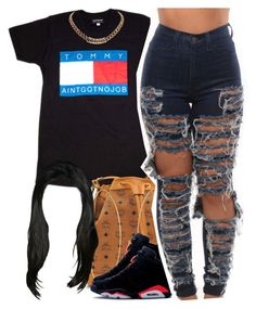 A fashion look from July 2015 featuring tee-shirt, distressed jeans and mcm purse. Browse and shop related looks. Dope Outfits, Swag Outfits, Outfits For Teens, Girl Outfits, Casual Outfits, Fashion Outfits, Dope Fashion, Fashion Killa, Teen Fashion