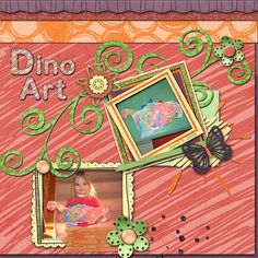 """Dino Art  Credits:  """"Scribble Scrap"""" Collection (Quick Page A1 and Alphabet) by Dees-Deelights Font Used:  Century  Available at:   My Memories Store  - Exclusive Quick Page A1 : –  https://www.mymemories.com/store/display_product_page?id=DDDR-QP-1503-83315  Coordinating Products Available at: My Memories Store: Main Kit - https://www.mymemories.com/store/display_product_page?id=DDDR-CP-1502-80848"""