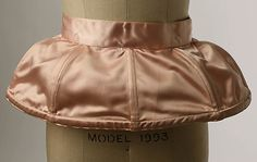 Priscilla Wohl 1947–48 American. Pink satin Pannier with cotton lining, boning and elastic. *vintage leavers*