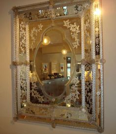 Style, Etched mirror and Venetian mirrors on Pinterest