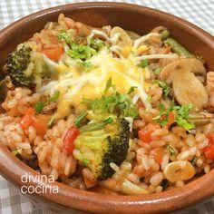 Este plato de arroz hortelano al queso sigue una elaboración entre un arroz tradicional y un risotto. Hemos usado Sabroz para conservar textura y sabor