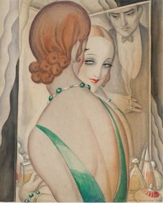 (1886-1940), 1931-36, Ved Spljlet (By the mirror).