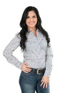 Cinch Ladies Purple Paisley Print Long Sleeve Western Shirt   Cavender's