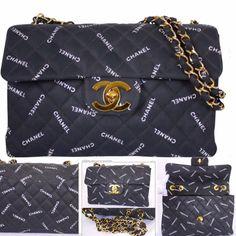 Chanel Monogram Canvas Maxi XL Jumbo Classic Flap Bag  4229c626c1c24