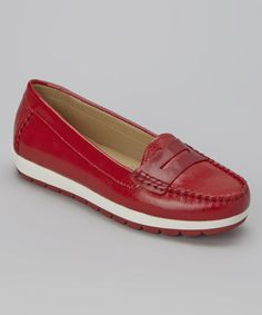 Another great find on #zulily! Cherry Senda Leather Loafer #zulilyfinds