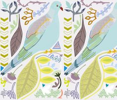 love dove fabric by junej on Spoonflower - custom fabric