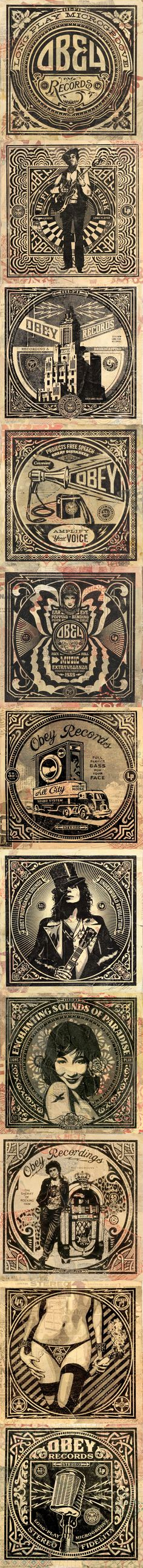 """Obey brand by Shepard Fairey. Love the one with """"The Sheriff of Rocking Ham"""""""