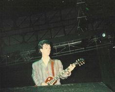 Johnny Marr on stage with The Smiths at Greek Theatre, Berkeley, California, United States on August 1986 -- photographer unknown The Smiths, Andy Rourke, Johnny Marr, Berkeley California, Will Smith, Concert, Theatre, Random Stuff, Stage