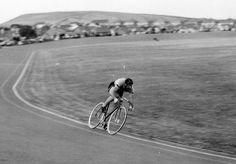 Cycling Champions: Reg Harris    Reg Harris Onchan Track IOM Cycling week 1957