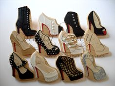 Christian Louboutin Cookies by Sugar Envy http://www.flickr.com/photos/sugarenvy/