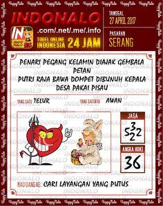 Syair Kuat 2D Togel Wap Online Indonalo Serang 27 April 2017