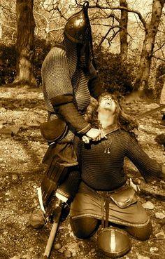A Dublin Swedish viking attacking Irish warrior, via Flickr.