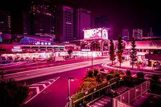 Neon Lights in Tokyo by Xavier Portela - ShockBlast Landscape Photography Tips, Light Photography, Tokyo Ville, Tokyo Streets, Tokyo Night, Neon Aesthetic, Photo Wall Collage, Urban Landscape, Japan Travel