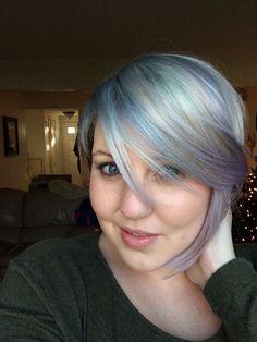 Grey and Lavender Purple Hair - By Erica Grayson Hair Designs