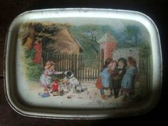 Metal Trays, French Vintage, Kids Playing, 1980s, Lunch Box, Store, Children, Young Children, Boys Playing