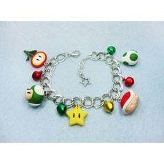 Super Mario Bros. ,bracelets,pulsera,nintendo,video juegos,video games,fimo