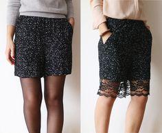 DIY chic bermuda shorts - via virginiepeny.com