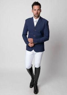 Horse riding outfit.