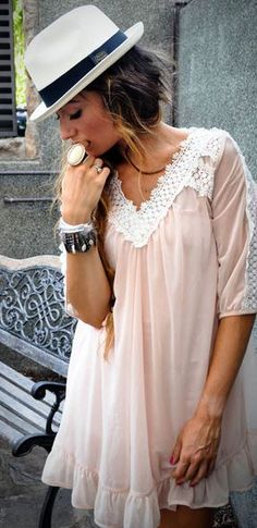 Pink babydoll dress! It's perfect because I already have the hat...