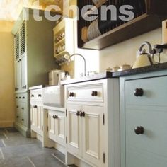 Beginning to love the idea of free-standing, non fit kitchens!  The more I look, the more I love!