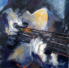 guitar painting | Kevin LePrince: Charleston Artist: Guitar Hero, 8x8 Oil Painting