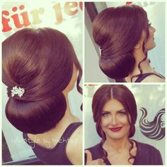 Glam low bun with glam hair accessory Popular Ladies Fancy Hairstyles, Bride Hairstyles, Long Hair Wedding Styles, Long Hair Styles, Hair Upstyles, Glam Hair, Stylish Hair, Hair Dos, Bridal Hair