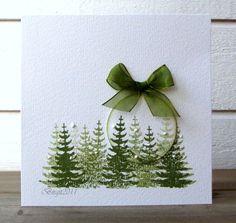 Part 2 Inspirations for Christmas cards - Karten basteln - Homemade Christmas Cards, Christmas Cards To Make, Homemade Cards, Handmade Christmas, Holiday Cards, Christmas Crafts, Christmas Baubles, Christmas Christmas, Simple Christmas