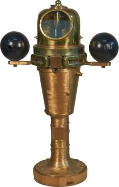 Restored WWII Brass Binnacle Compass : Lot 1305
