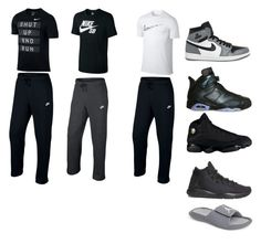 """""""Untitled #160"""" by alyssagrimaldocollins1984 ❤ liked on Polyvore featuring NIKE, men's fashion and menswear"""