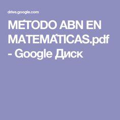 MÉTODO ABN EN MATEMÁTICAS.pdf - Google Диск