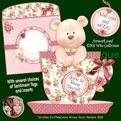 Tea Cup Bear :: Printable Cards :: Aimee Asher Boutique