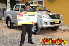#Tbt Felix Caballero de la ciudad de Asunción, se convirtió en el millonario N° 116 habiendo ganado en el sorteo de aquel 2 de febrero del 2014, nada más y nada menos que Gs. 500.000.000 + una potente camioneta Toyota Hilux 0km de ese año.   Con #Seneté ¡Un número le cambió todo a Felix!