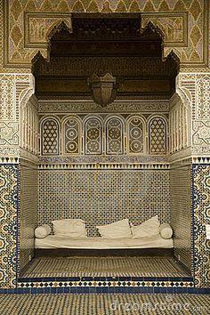 Alcoba con los mosaicos árabes