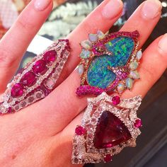 Rubelites, opals & seahorses for all! Wendy Yue @by_couture