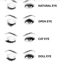 New Eye Shapes Lash Extensions Ideas Perfect Eyelashes, Natural Eyelashes, Natural Eyes, Fake Eyelashes, False Lashes, Eyelashes Makeup, Eyebrows, Eyelash Extensions Styles, Natural Eye Lash Extensions