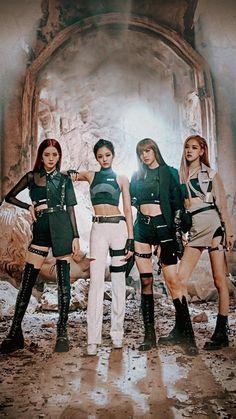 blackpink kill this love Stage Outfits, Kpop Outfits, Kpop Girl Groups, Kpop Girls, Blackpink Youtube, Mode Kpop, Lisa Blackpink Wallpaper, Black Pink Kpop, Blackpink Members