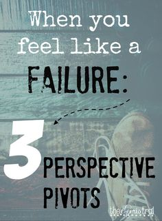 How do you preach to yourself when you feel like a failure? ~ It may be ministry inside the walls of your home or efforts to impact other spaces. Maybe it's the job you're paid to do or the calling you feel compelled to follow. ~ Whatever it is — when it doesn't move along or behave like you expected — you may be frustrated, doubting, and defeated. ~ Come on over and let me tell you a story and let's discover together how to reframe your perspective and reclaim your joy.: