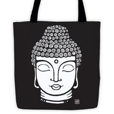 Buddha - Tote bag with black straps (see more colors)