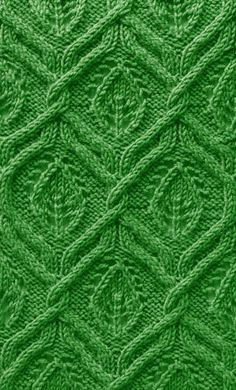 Leaf Cable   <   Free pattern   /   KC
