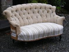 A magnificent Buttoned Back Sofa circa 1880. @SusanOsbourne  Height - 88cm Width - 142cm Depth of Seat - 52cm.  SOLD