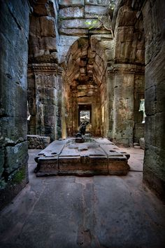 abandoned Amongst the ruins of Ta Phrom, part of the Angkor Wat complex near Siem Reap, Cambodia. Abandoned Buildings, Abandoned Mansions, Old Buildings, Abandoned Places, Laos, Places To See, The Places Youll Go, Site Archéologique, Ancient Ruins