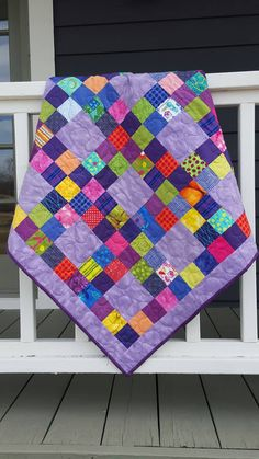 Grape Bubblegum Quilt for little ones by LilBeanQuilting on Etsy